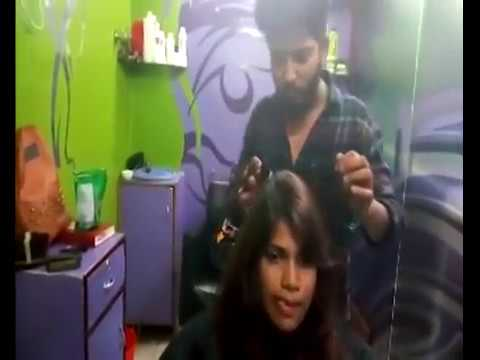 Mumbai's Girl getting Long bob Haircut