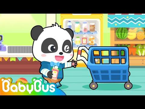 Baby Supermarket Shopping | Pretend Play | Kids Cartoon | Animation For Kids | BabyBus |
