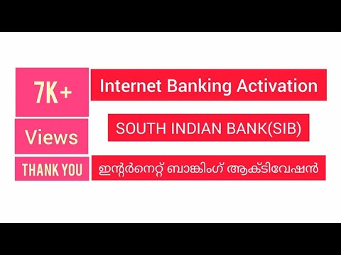 How To Activate Internet Banking | South Indian Bank-SIB