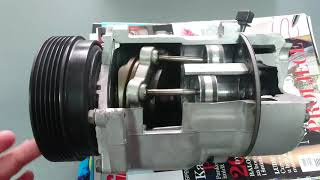 How does car air conditioning compressor work