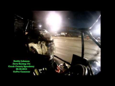 Creek County Speedway 06-20-2013 NOW600 MiniSprint Heat 4 - Buddy Johnson-13e