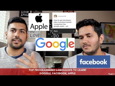 Top Programming Languages To Learn For a Job in Google, Facebook, Apple, etc!