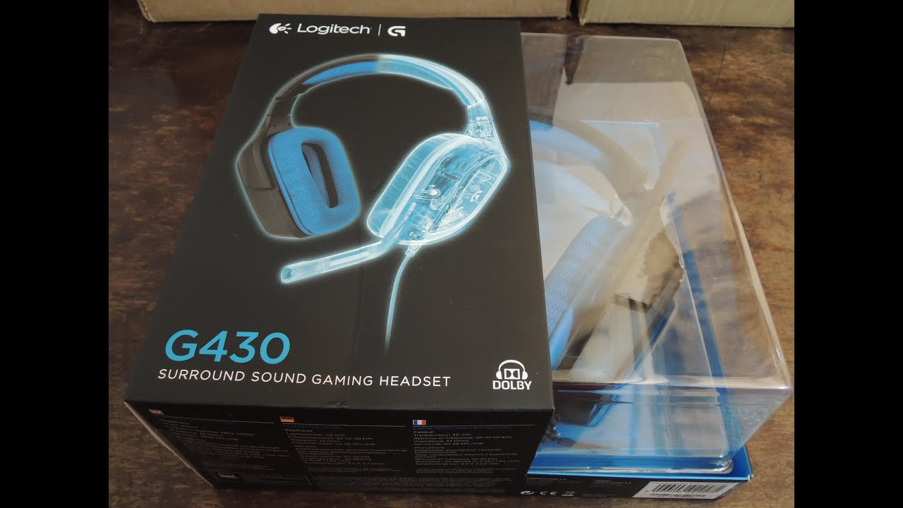 Auriculares Gaming Logitech G430 7 1 Unboxing y review en español