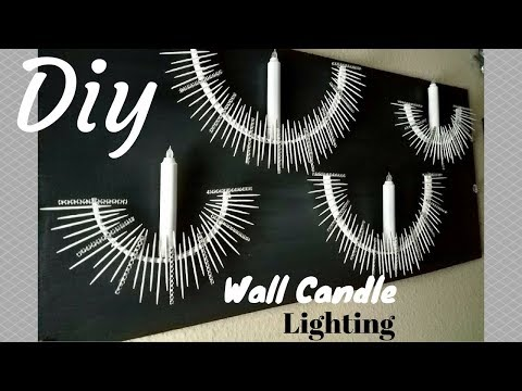 Diy Home Decor Candle Lighting Design Cheap, Quick And Easy!