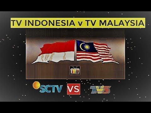 Daftar TV Indonesia dengan TV Malaysia