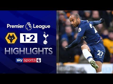 Lucas Moura smashes home spectacular strike! | Wolves 1-2 Tottenham | Premier League Highlights