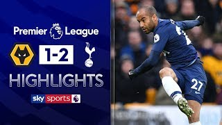Lucas Moura smashes home spectacular strike! | Wolves 1-2 Tottenham | Premier League Highlights