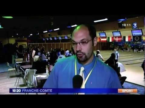 reportage fr3 au bowling de belfort lors des championnats d'europe corpo 2011