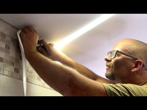 Световые линии на потолке Натяжной потолок Светодиодная лента СТРОИМ ДЛЯ СЕБЯ
