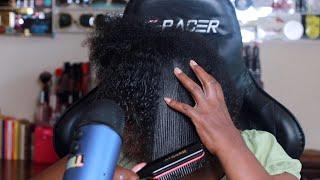 ASMR Detangling Textured Hair