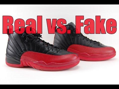 Real vs. Fake Air Jordan 12 Flu Game Bred 2016 Legit Check