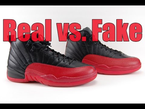 huge discount c7390 8c4dd Real vs. Fake Air Jordan 12 Flu Game Bred 2016 Legit Check ...