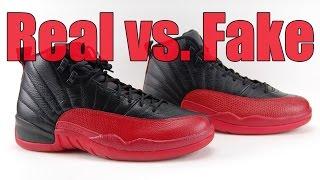 quality design 61f06 2d5ac Real vs. Fake Air Jordan 12 Flu Game Bred 2016 Legit Check