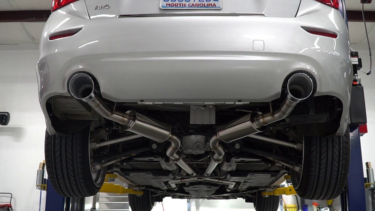 soho motorsports infiniti q50 exhaust
