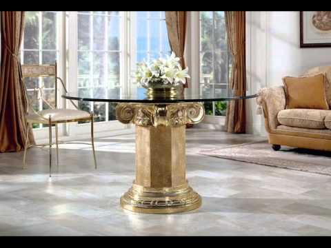 Mesas De Comedor De Cristal Y Aluminio