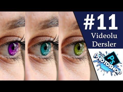 Photoshop Göz Rengi Değiştirme - Photoshop Fotoğraf Efektleri