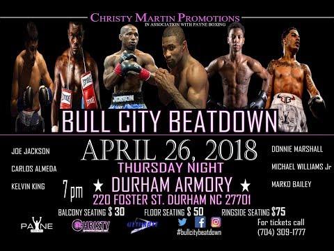 Bull City Beatdown 4/26/18 Boxing Live from Durham, NC