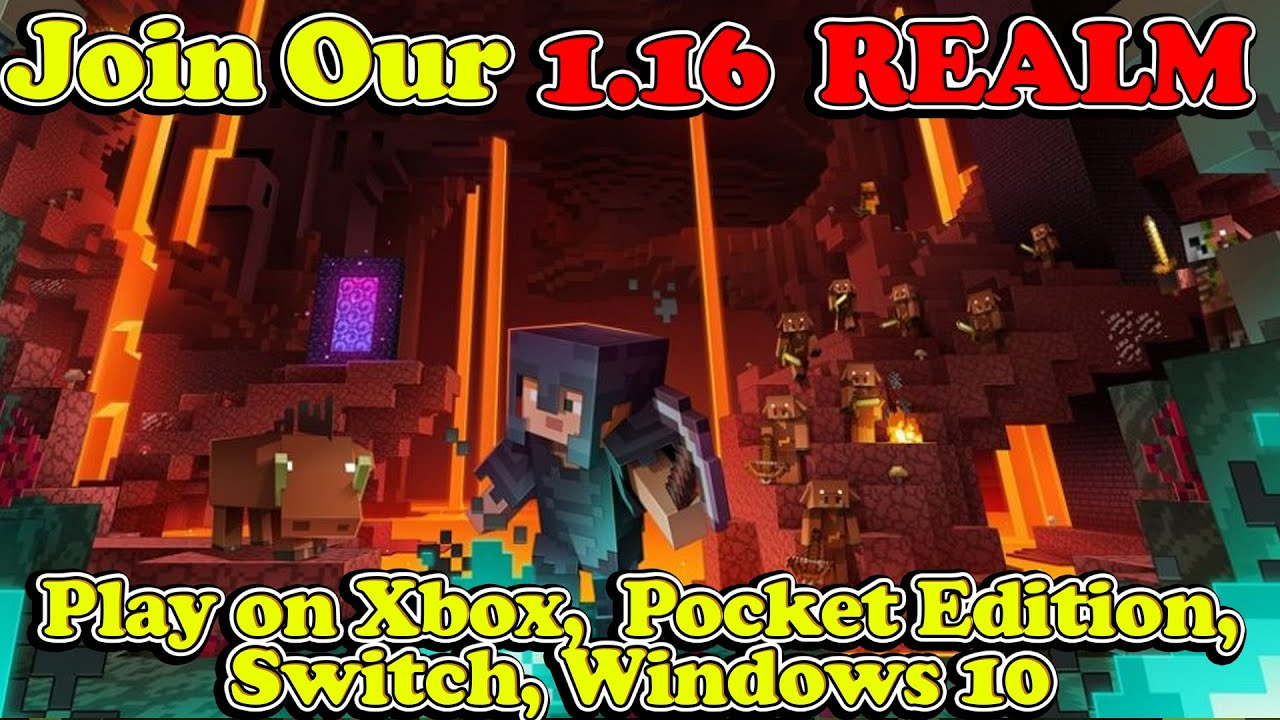 🔴 LIVE Minecraft 1.16 Realm  - Sub and Play With Us On Xbox, Windows 10, or Pocket Edition!