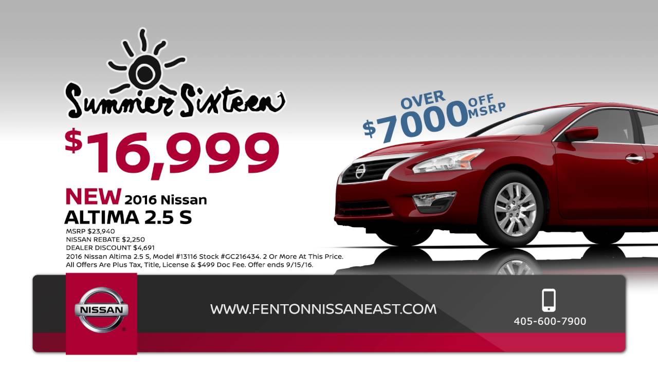 Fenton Nissan East >> Summer 16 Sale At Fenton Nissan East