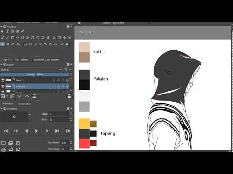 how to make the coloring process of 2d traditional animation with krita
