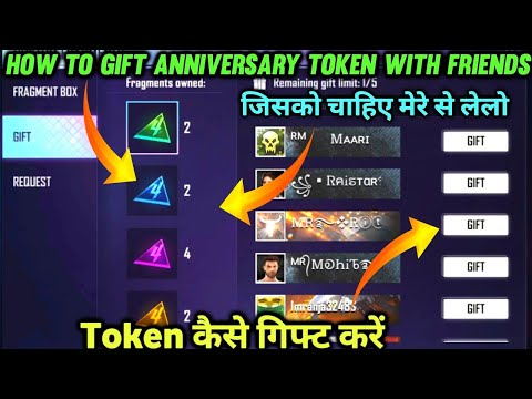 How To Gift Anniversary Token With Friends   Token Gift Kaise Kare   Free Fire New Event  