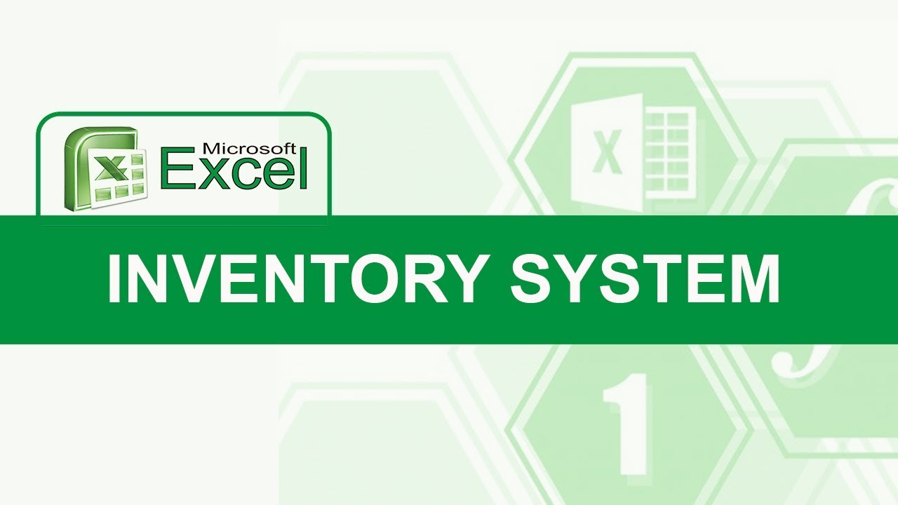 how to create a simple in and out inventory system in excel youtube