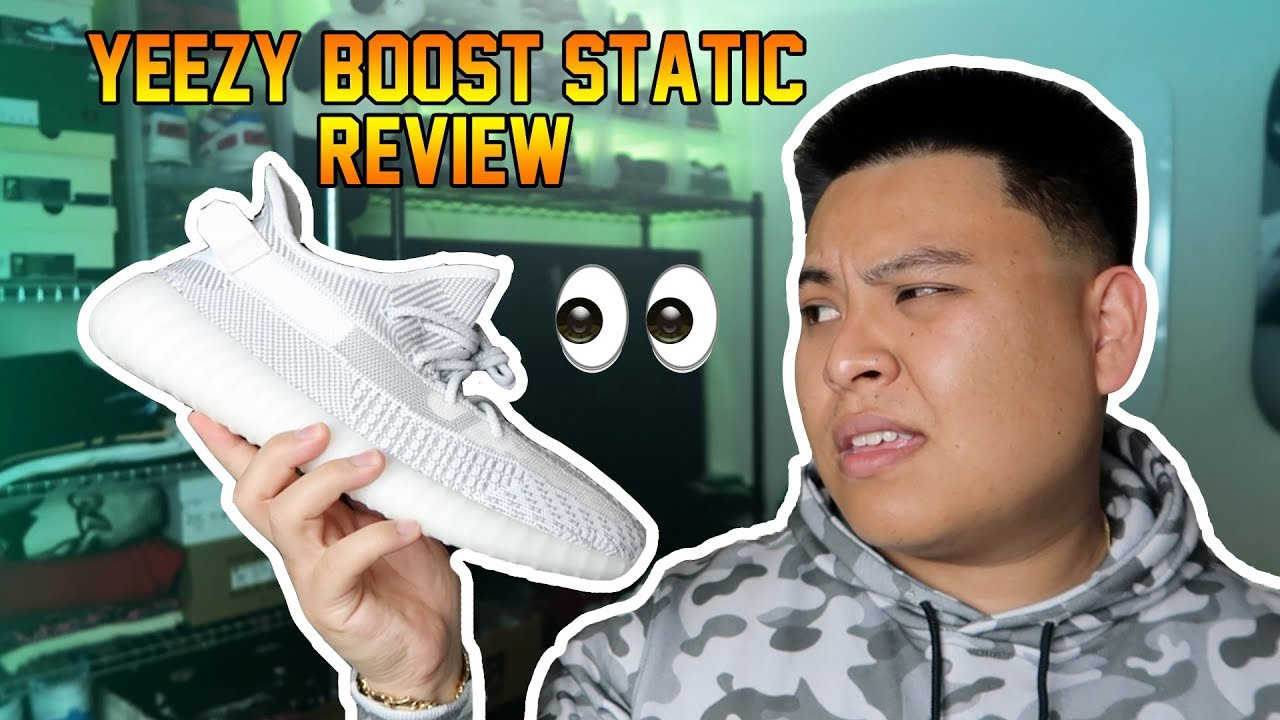 detailed look 594d3 9ae11 ADIDAS YEEZY 'STATIC' 350 BOOST REVIEW + ON FEET!!! COP OR DROP?