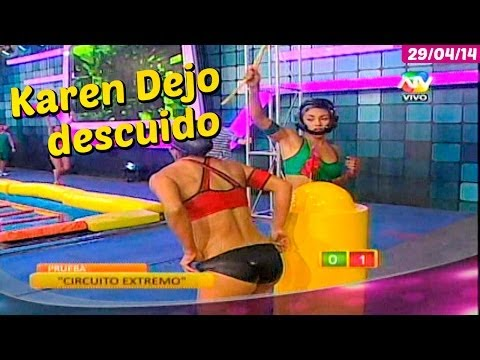 COMBATE: Karen Dejo descuido con el short 29/04/14