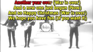 John Lennon   happy Xmas war is over best karaoke instrumental lyrics