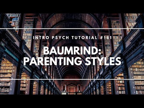 "Thumbnail for the embedded element ""Baumrind's Parenting Styles (Intro Psych Tutorial #181)"""