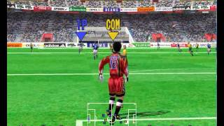Virtua Striker 2 version 99.1 Supermodel 0.3a WIP rev 272 - Some Gameplay -