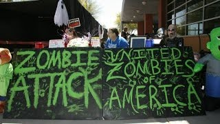 UZA Zombie Attack at Laughing Moon Con 2014