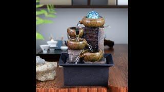 유럽 스타일 행운의 수정 실내 분수 인테리어 장식품