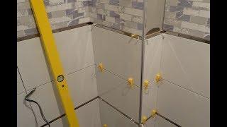 БЫСТРАЯ УКЛАДКА керамической плитки СИСТЕМА СВП своими руками на стены в ванной ВИДЕО инструкция