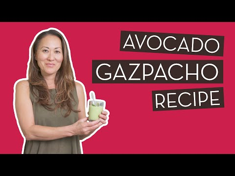 Avocado & Green Grape Gazpacho Recipe | Chef…}