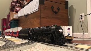 MTH Premier New York Central J3a 4-6-4 Hudson [No Traction Tires] Intermodal Freight Train Test