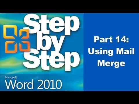 How To Mail Merge in Microsoft Word 2010 - Part 14