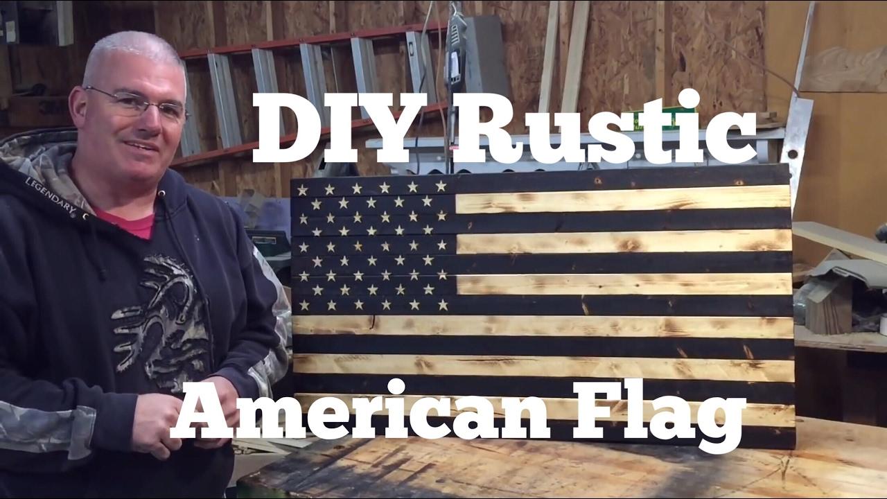 DIY American Flag Rustic Torched