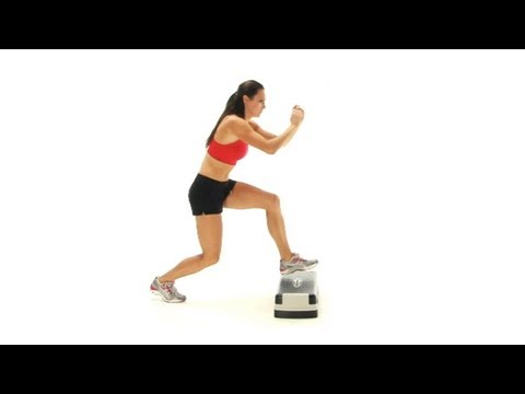 Step exercises for the legs and glutes - Stepping back off the step