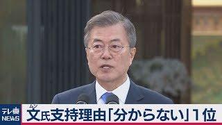 韓国・文大統領の支持理由トップは「わからない」