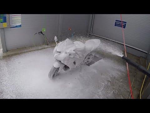 So wäscht man sein Motorrad... NICHT!