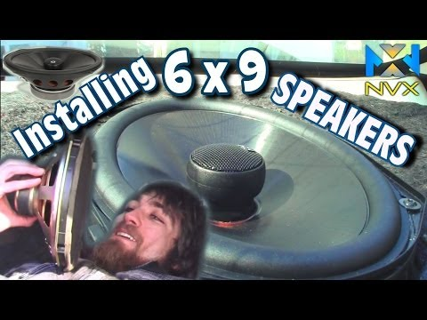 Installing 6x9 Speakers in Rear Deck | 04 Chevy Impala / How To Install NVX VSP69 Coaxial Speaker