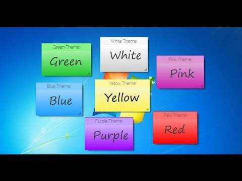 How To Create Sticky Notes On Your Computer Or Laptop And Remind Everything/sticky Notes Windows 8