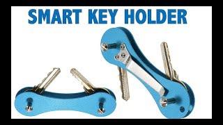 Aluminum Smart Key Holder Organizer Keychain Pocket car key case key Wallets UNBOXING Aliexpress