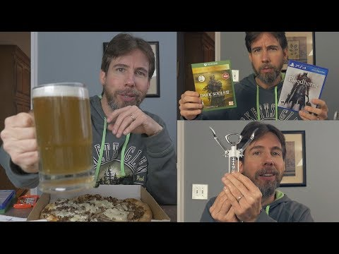 ASMR Pizza Beer Chocolate & Video Game Chat