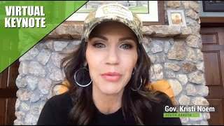 Governor Kristi Noem (SD) Keynote Speech Governor Kristi Noem does a virtual fly-by the 2021 OSG Producer Summit to share the story of her hunting heritage, her journey into politics and her thoughts on ..., From YouTubeVideos