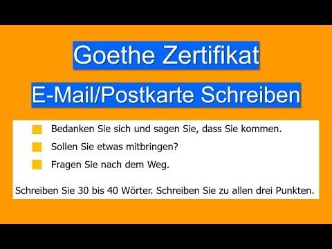 Goethe Zertifikat