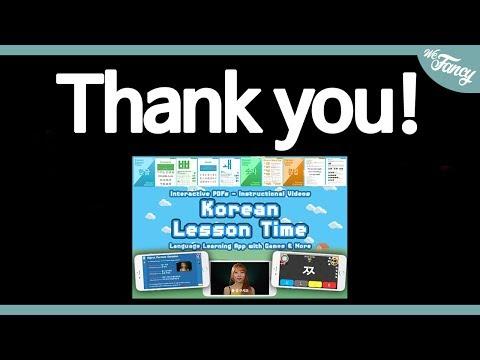 THANK YOU! Korean Lesson Time [Live Stream April 28th]