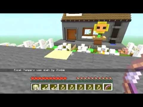minecraft-xbox-edition:-let's-play-plants-vs-zombies-(-mini-game-)-with-excel-temperz