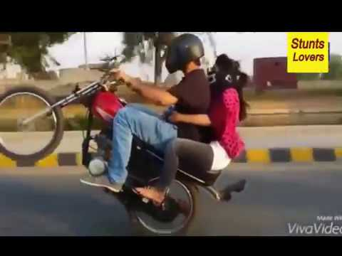 Bike Wheeling with girlfriend karachi 2020
